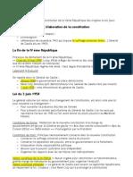 Fiche n°1- Chapitre introductif- Section 1 Elaboration de la constitution