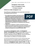 Developpement Humain Concepts Termes