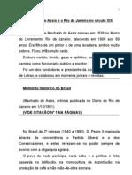 Machado de Assis e o Rio de Janeiro No Seculo Xix