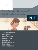 Avaya One x Mobile Blackberry