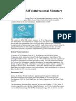 History of IMF