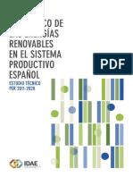 Impacto económico de las Energías Renovables en el sistema productivo Español
