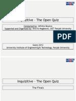 Inquizitive-The Open Quiz (Finals) | Goonj 2012 | UIET Panjab University