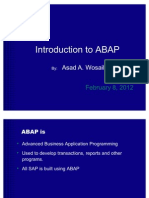Quick Overview on ABAP