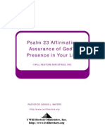 Psalm Affirmation IWillRestoreEdition New Thought Ancient Wisdom Edition