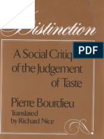 Bourdieu Distinction