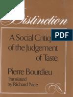 Bourdieu Distinction