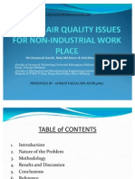 Indoor Air Quality Issues for Non-Industrial Work Place