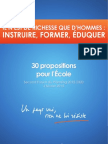 BAYROU instruire et instruction 30 Propositions
