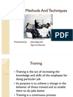Ppt Training Methods and Techniques