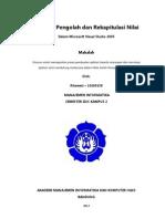 Aplikasi Pengolah dan Rekapitulasi Nilai   Rikawati 10260138
