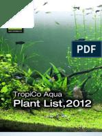 TropiCo Aqua Plant List 2012