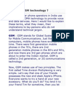 What is GSM Technology