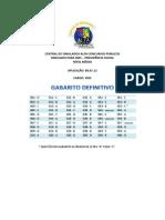 GABARITO DEFINITIVO Simulado INSS - Técnico do Seguro Social 2012