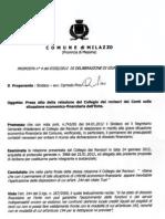 Delibera di Giunta n.6 del 07/02/12 - Presa d'atto della relazione del Collegio dei Revisori dei Conti sulla situazione economico-finanziaria dell'Ente. Presunto dissesto finanziario