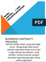 Business Continuity and Disaster Recovery EDP