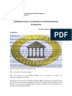 INTRODUCCION A LA JUSTICIA CONSTITUCIONAL EN BOLIVIA - José Antonio Rivera Santivañez 2002