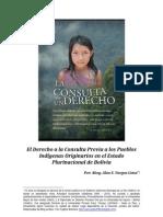 El Derecho a la Consulta Previa a los Pueblos Indígenas en el Estado Plurinacional de Bolivia