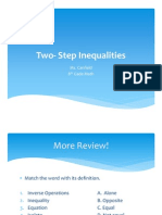 Two- Step Inequalities