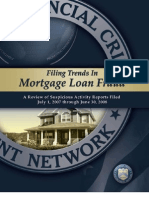 FRAUD REPORT--FINCEN ON TRENDS IN MORTAGE FRAUD-SUSPICIOUS ACTIVITY