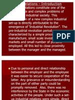 Industrial Relations - Unit I