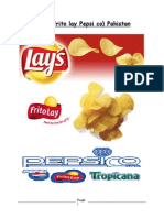 Vertical and Horiontal Marketing Channel Conflict of Lays Pakistan