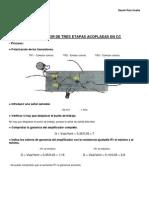 Práctica n 8 - Amplificador de tres etapas acopladas en CC -