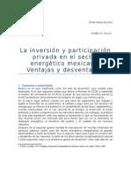 Inversión y participación privada en el sector energético mexicano