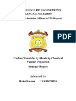 Carbon Nanotube Synthesis Report