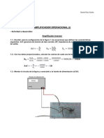 Práctica nº 9 (sonido) - Amplificador operacional (I) -