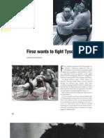 Firoz wants to fight Tyson