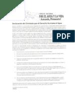 Declaración de Chimbote por el D° al Agua