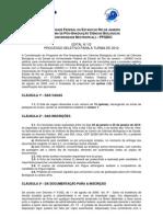 Edital Ppgbio-unirio Mestrado 2012