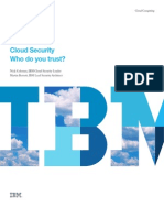 Cloud Security Who Do You Trust - Thought Leadership White Paper - IBM