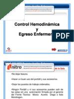 Control Hemodinamia y Egreso de Enfermería