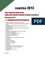 DESCUENTOS ACTUALIZADOS 2012