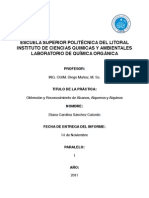 Informe de laboratorio de química orgánica