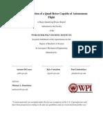 MQP Report Quadrotor Final[1]