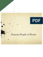 famous roman people