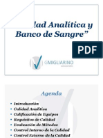 Calidad Analitica Banco Sangre