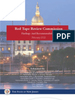 Red Tape Review Commission Issues Report Detailing Strategies to Cut Red Tape for Businesses and Non-Profits Throughout New Jersey