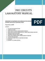 Electronics Circuits Laboratory Manual