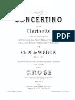 Weber Concerti No Clarinet