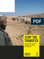 Amnesty Briefing Paper on Jahalin Bedouin forced relocation
