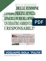 Munnezza Emergenza 25 31 Gennaio 2012 Isola Delle Femmine PDF