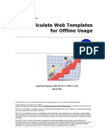 How to Pre Calculate Web Templates for Offline Usage - NW3.5