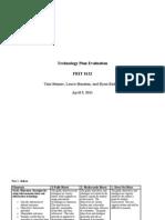 Technology Evaluation Plan - L Houston-T Benner-R Rickard