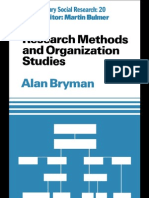 Research Methods and Organization Studies Contemporary Social Research