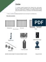 Aluminum Fencing Installation
