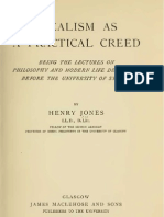 Henry Jones IDEALISM as a PRACTICAL Creed Glasgow and Sydney 1909